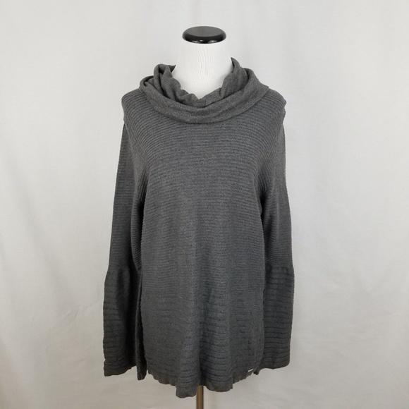 Calvin Klein Sweaters - NEW Calvin Klein Gray Cowl Flare Sleeve Sweater